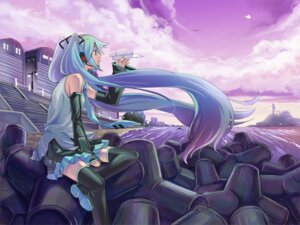 Rating: Safe Score: 11 Tags: hatsune_miku hikiyama_towa thighhighs vocaloid User: yumichi-sama