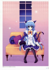 Rating: Safe Score: 19 Tags: animal_ears maid mitha nekomimi pantyhose tail User: SubaruSumeragi