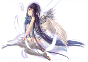 Rating: Safe Score: 51 Tags: boku_to_kimi_to_kakuusekai_to dress kazuharu_kina see_through thighhighs wings User: mmqmxsg