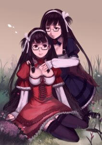 Rating: Safe Score: 16 Tags: cleavage dress megane thighhighs yykuaixian User: blooregardo