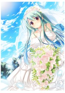 Rating: Safe Score: 34 Tags: dress hatsune_miku kaho_okashii vocaloid wedding_dress User: 椎名深夏
