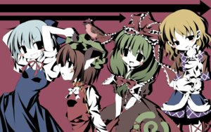 Rating: Questionable Score: 14 Tags: chen cirno dress gothic_lolita kagiyama_hina lolita_fashion mystia_lorelei touhou User: birdy73