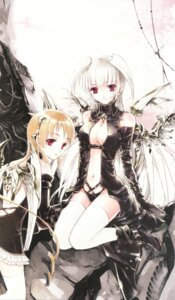 Rating: Safe Score: 21 Tags: cleavage kuramoto_kaya pieces_of_the_world thighhighs wings User: Radioactive