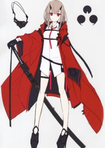 Rating: Questionable Score: 15 Tags: garter heels horns nagishiro_mito sketch sword tagme User: Radioactive