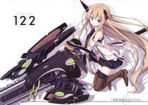 Rating: Safe Score: 28 Tags: asahiage chainsaw crease fixme mecha_musume poco thighhighs User: fireattack