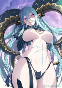 Rating: Questionable Score: 51 Tags: breast_hold breasts cameltoe fate/grand_order horns no_bra pantsu pointy_ears tiamat_(fate/grand_order) wada_masanori User: BattlequeenYume