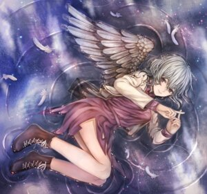 Rating: Safe Score: 30 Tags: kishin_sagume nekushiro touhou wet wet_clothes wings User: Mr_GT