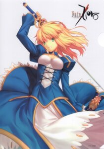 Rating: Safe Score: 66 Tags: dress fate/stay_night fate/zero saber scanning_resolution sword takeuchi_takashi User: tsukumoyo