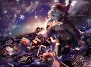 Rating: Safe Score: 25 Tags: christmas hatsune_miku landscape saihate thighhighs vocaloid User: Mr_GT