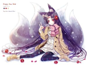 Rating: Safe Score: 35 Tags: animal_ears hagino_kouta kitsune sweater tail tattoo User: KazukiNanako