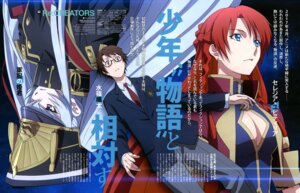 Rating: Safe Score: 21 Tags: altair_(re:creators) cleavage makino_ryuuichi megane mizushiro_souta re:creators seifuku selestia_yupitiria uniform User: drop