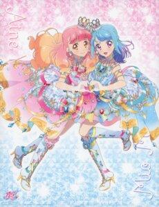 Rating: Safe Score: 13 Tags: aikatsu! aikatsu_friends! heels minato_mio skirt_lift watanabe_satomi yuuki_aine User: fireattack
