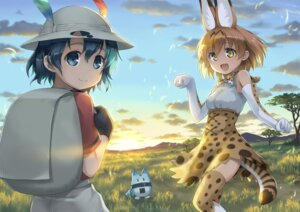 Rating: Safe Score: 22 Tags: animal_ears kaban_(kemono_friends) kemono_friends lucky_beast remi-na serval tail thighhighs User: Mr_GT
