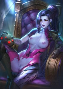 Rating: Explicit Score: 53 Tags: bodysuit breasts nipples no_bra nopan nudtawut_thongmai overwatch pubic_hair pussy tattoo torn_clothes uncensored widowmaker User: BattlequeenYume