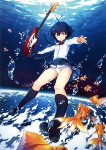 Rating: Questionable Score: 47 Tags: guitar kuuchuu_yousai pantsu seifuku skirt_lift User: Twinsenzw