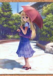 Rating: Safe Score: 30 Tags: dress goto-p k-on! kotobuki_tsumugi mizuki-chan_club umbrella User: petopeto