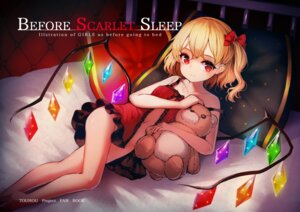 Rating: Questionable Score: 61 Tags: flandre_scarlet lingerie loli nopan open_shirt pyonsuke0141 touhou wings User: Mr_GT