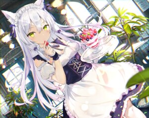 Rating: Safe Score: 31 Tags: animal_ears cleavage maid skirt_lift tatsukisan waitress User: yanis