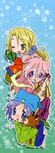 Rating: Safe Score: 8 Tags: hiiragi_tsukasa kuroi_nanako lucky_star takara_miyuki User: Elow69