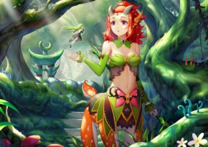 Rating: Questionable Score: 22 Tags: bikini_top cleavage defense_of_the_ancients dress enchantress_(dota) fairy heels horns monster_girl see_through sonikey thighhighs wings User: fireattack