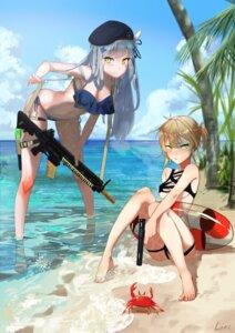 Rating: Safe Score: 48 Tags: bikini cleavage girls_frontline gun hk416_(girls_frontline) lonc swimsuits underboob welrod_mk2_(girls_frontline) wet User: Mr_GT