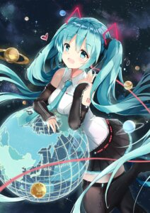 Rating: Safe Score: 53 Tags: hatsune_miku headphones kuroi_asahi tattoo thighhighs vocaloid User: Mr_GT