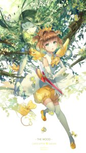 Rating: Safe Score: 44 Tags: bloomers card_captor_sakura ekita_gen kerberos kinomoto_sakura thighhighs weapon wings User: Mr_GT