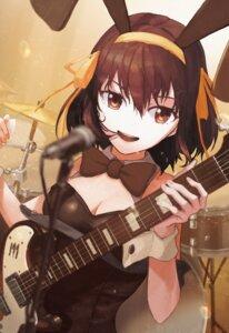 Rating: Safe Score: 20 Tags: animal_ears bunny_ears bunny_girl cleavage guitar no_bra suzumiya_haruhi suzumiya_haruhi_no_yuuutsu syoyo User: Munchau