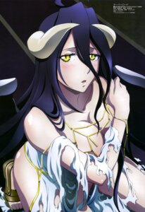 Rating: Questionable Score: 64 Tags: albedo_(overlord) breast_hold cleavage dress horns maehara_momoko overlord torn_clothes wings User: drop