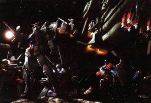 Rating: Safe Score: 5 Tags: gundam guntank mecha mobile_suit_gundam morishita_naochika rx-78-2_gundam User: Radioactive