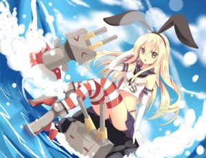 Rating: Safe Score: 25 Tags: hentaki kantai_collection rensouhou-chan shimakaze_(kancolle) thighhighs thong User: charunetra