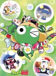Rating: Safe Score: 6 Tags: christmas dororo giroro gun headphones keroro keroro_gunsou kururu_(keroro_gunsou) tamama User: Radioactive